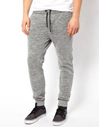 Diesel Sweat Pants Pascale Tapered Melange Grey