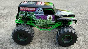 100 Monster Jam Rc Truck New Bright Remote Control Grave Digger Review YouTube