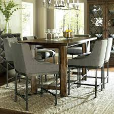 Tall Dining Table Set Minimalist Chocolate 5 Counter Height Room Sets On Tables Small Spaces