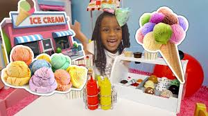 Toys And Colors Pretend Play Ice Cream Cart Shopping - Little Sister ...