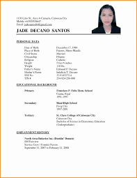 Sample Of Simple Resume Format Unique Applicant Throughout