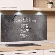 grazdesign spritzschutz küche glas steinoptik wandpaneele küche lustiger spruch fliesenspiegel küche granitoptik küchenrückwand glas familienspruch