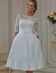 compare prices on tea length wedding dress satin online shopping