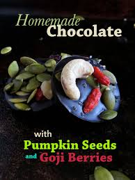 Can Rabbits Eat Pumpkin Seeds by Homemade Chocolate With Pumpkin Seeds And Goji Berries V Gf Raw