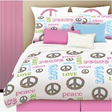 Love Pink Bedding by Shop Peace And Love 4 Piece Pink Queen Comforter Set At Lowes Com