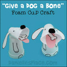 Give A Dog Bone Foam Cup Craft And Math Learning Activity For Preschool
