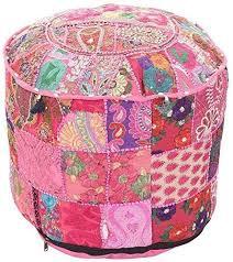 indian vintage patchwork osmanischen cover wohnzimmer pouf
