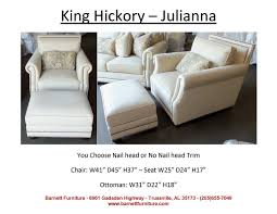 King Hickory Julianna Chair. You Choose Fabric Or Leather ... Barnett Fniture King Hickory Winston Bartlett Home Furnishings Store Tn Accent Chairs And Ottomans W010 Francis Brinsmade Chair Bentley Sofa Living Room Fabric With Panel Arm Blackbrown Floral Ottoman Round Coastal By Universal 3839 Pebble Athens 79 Off Abc Carpet Cisco Brothers