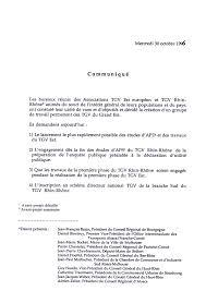 bureau des associations communiqué réunion de bureau des associations tgv est européen