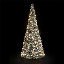 Lighted Spiral Christmas Tree Uk by Flock Tree Backyard Outdoor Pre Lit Christmas Trees Snowtime Holly