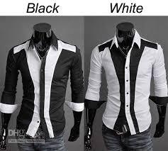 Black And White Shirts For Men Custom Shirt