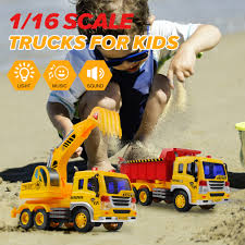 100 Demolition Truck Realistic City Car EXCAVATOR And Transporter TRUCK Light