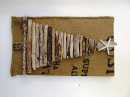 Driftwood Christmas Trees by Driftwood Christmas Tree With Sea Star And Burlap Base Rustic