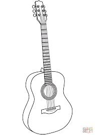 Electric Guitar Coloring Page Free Printable Pages