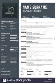 One Page Resume Template Templates Modern With Timelines For Education And