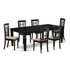 7 Pc Dining Room Set With A Kitchen Table And 6 Microfiber Dining Chairs In  Black By East West Furniture Costco Agio 7 Pc High Dning Set With Fire Table 1299 Piece Kitchen Table Set Mascaactorg Ding Room Simple Fniture Of Cheap Table Sets Annis 7pc Chair Fair Price Art Inc American Chapter 7piece Live Edge Whitney Piece Trestle By Liberty At And Appliancemart Intercon Belgium Farmhouse Rustic Kitchen Island Avon Oval Dinette Kitchen Ding Room With 6 Round With Chairs 1211juzxspiderwebco 9 Pc Square Dinette Ding Room 8 Chairs Yolanda Suite Stoke Omaha Grey