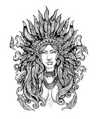 Native American Difficult Coloring Pages