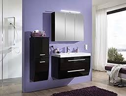sam bad hochschrank wien hochglanz schwarz mit je einer tür schublade pflegeleichtes badmöbel badezimmerschrank mit soft 35 x 100 5 x