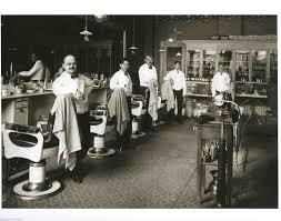 vintage barber shop old time barber chairs tonic bottles shoe