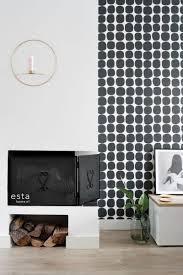 wohnzimmer tapete grafisches motiv schwarz weiß 139090