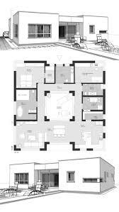 bungalow fertighaus modern mit flachdach im bauhausstil
