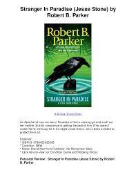 Stranger In Paradise Jesse Stone By Robert B Parker