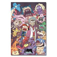 Pokemon XY Rick And Morty Art Silk Poster Or Canvas 13x20 20x30inch Cartoon Picture For