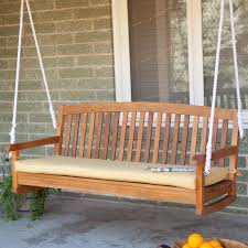 Coral Coast Classic 55 x 18 in Outdoor Porch Swing & Bench