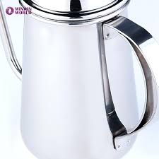 Italian Coffee Press New Stainless Steel Espresso Maker French Classic Home Long Mouth Trickling