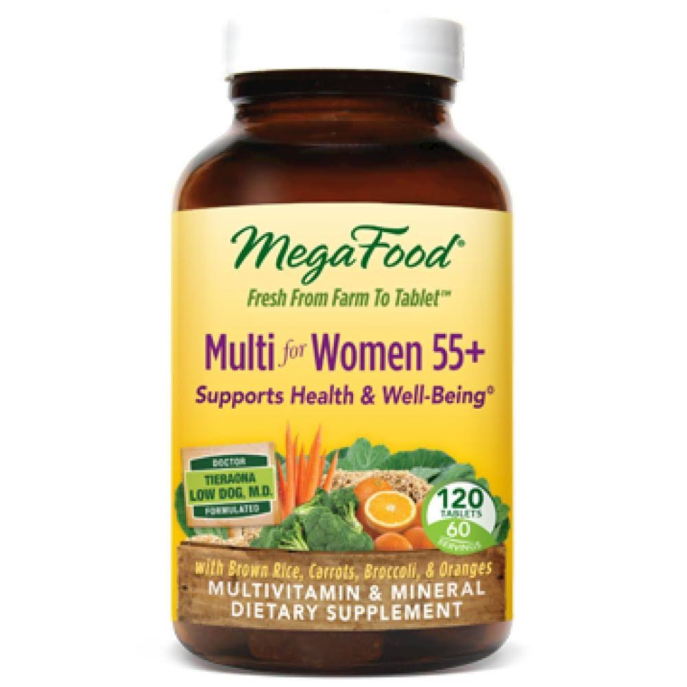 MegaFood Multivitamin & Mineral for Women Over 55 Dietary Supplement - 120 Tablets