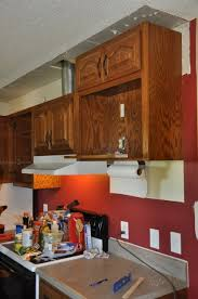 Kitchen Soffit Removal Ideas by Kitchen Makeover Tearing Out More Soffit Suede Sofa
