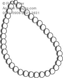 Pearl Necklace Royalty Free Clip Art Picture