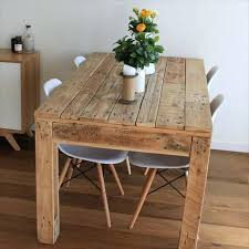 Diy Dinning Table Recycled Pallet Dining Bench