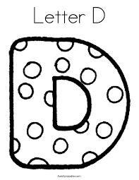 Letter D Coloring Sheets 7349