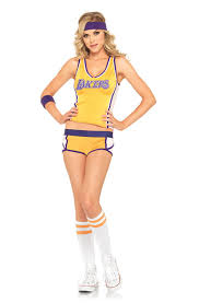 Retro Lakers Set Adult Costume