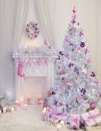 White Christmas Tree Pink Socks For Girls Holiday Photography Backdrop Shopbackdrop