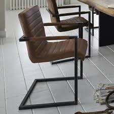 freischwinger esszimmerstuhl braun 2er set industrial style