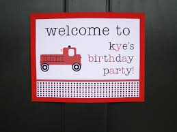 Firetruck Party Decorations! - The Journey Of Parenthood...