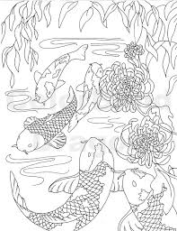 Fish Coloring Page Koi Japanese By Colorblinddragon