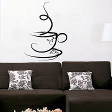 Cup Of Coffee Wall Decal Vinyl Decor Art Sticker By UberDecals