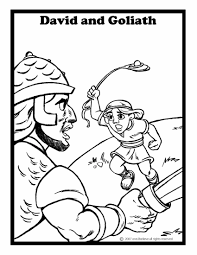 Bible Story Coloring Pages David And Goliath