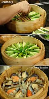 steamer cuisine steam it this rise user made 4 different dishes his bamboo