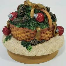 Qvc Christmas Tree Hugger by Yankee Candle Jar Topper Christmas Basket Ornaments Pine Cones Our