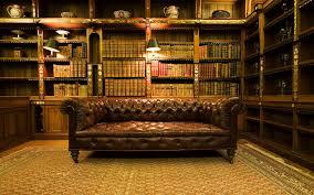 Wallpaper Old Library Design Interior Home