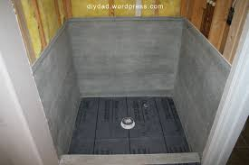 tile shower pan diy