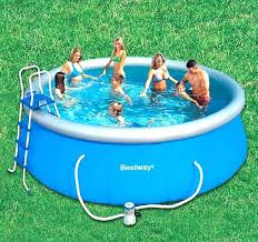 Blue Plastic Kiddie Pool Wading With Slide Hard Pools For Dogs Large Portable