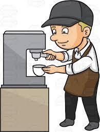 A Male Barista Making Espresso