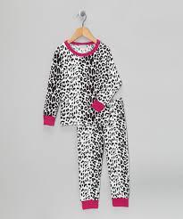 bedhead pajamas black u0026 white snow leopard pajama set toddler