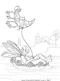 Phee McFaddell Cute Free Coloring Page