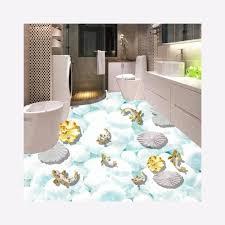 große moderne wandbilder fischteich 3d fliesen badezimmer boden aufkleber für innen dekor buy nette karton design abnehmbaren bad fliesen